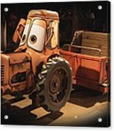 Cars Land Cow Tractor Acrylic Print