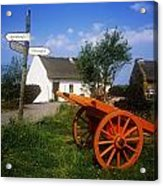 Cart On The Roadside Of A Village, The Acrylic Print