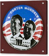 Carter Campaign Button Acrylic Print by Granger