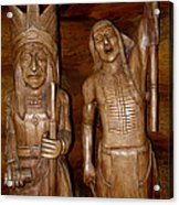 Carved American Indians Acrylic Print