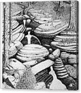 Cascade In Boulders Acrylic Print