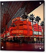 Casino Fremont Street Las Vegas Acrylic Print by Susanne Van Hulst