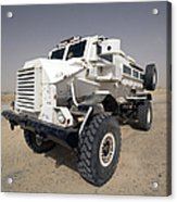 Casper Armored Vehicle Sits Acrylic Print