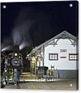 Cass Station At Night Acrylic Print