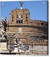 Castel Saint Angelo On The River Tiber. Rome Acrylic Print