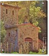 Castillo De Amoroso Farmhouse Napa Valley Acrylic Print by George Sylvia