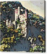 Castle Above The Rhine In Germany Acrylic Print