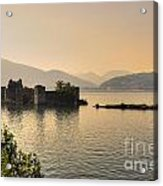 Castle Cannero On Lake Acrylic Print