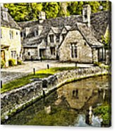 Castle Combe Riverside Acrylic Print