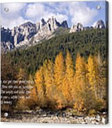 Castle Crags Autumn Acrylic Print