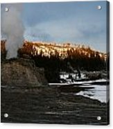 Castle Geyser Yellowstone National Park Acrylic Print