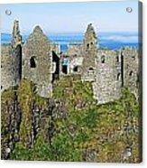 Castle On A Cliff, Dunluce Castle Acrylic Print
