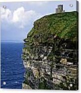 Castle On A Cliff, Obriens Tower Acrylic Print by The Irish Image Collection