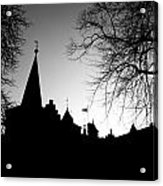 Castle Silhouette Acrylic Print by Semmick Photo