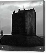 Castle Stalker Dusk Silhouette Acrylic Print