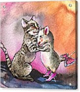 Cat And Mouse Reunited Acrylic Print