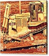 Cat Bulldozer . 7d10945 Acrylic Print