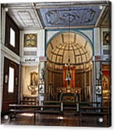 Cataldo Mission Altar And Interior Acrylic Print