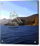 Catalina Shoreline Ghost Ship Acrylic Print