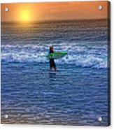 Catch A Wave Acrylic Print by Tom York Images