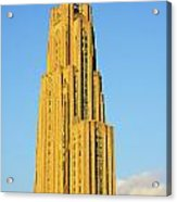 Cathedral Of Learning In Evening Light Acrylic Print