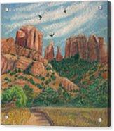 Cathedral Rock In Sedona Acrylic Print