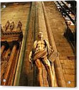 Cathedral Statue Milan Italy Acrylic Print