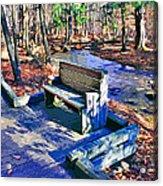 Catoctin Bench Acrylic Print