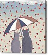 Cats In Love Acrylic Print