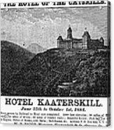 Catskills Hotel, 1884 Acrylic Print