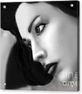 Caught In A Day Dream Full Black And White Acrylic Print