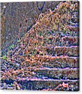 Caution Broken Stairs Acrylic Print