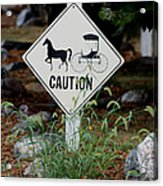Caution Please Acrylic Print