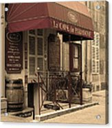 Cave Du Paradoxe Wine Shop In Beaune France Acrylic Print
