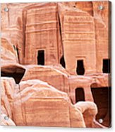 Cave Dwellings Petra. Acrylic Print by Jane Rix