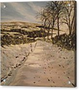 Cavehill Winter Walk Acrylic Print