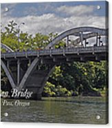 Caveman Bridge With Text Acrylic Print