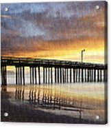 Cayucos Pier Reflected Acrylic Print