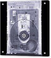Cd Drive, Simulated X-ray Acrylic Print by Mark Sykes