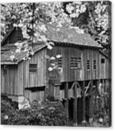 Cedar Creek Grist Mill Bw Acrylic Print