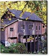Cedar Creek Grist Mill In Autumn Acrylic Print