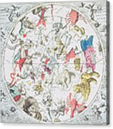 Celestial Planisphere Showing The Signs Of The Zodiac Acrylic Print by Andreas Cellarius