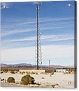 Cellular Phone Tower In Desert Acrylic Print