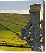 Celtic Cross In A Cemetery Acrylic Print