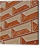 Cement Block Wall Design Acrylic Print