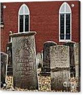Cemetery And Church Acrylic Print