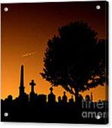 Cemetery And Tree Acrylic Print