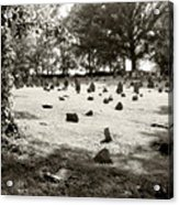 Cemetery At Mud Meeting House Acrylic Print by Mark Jordan