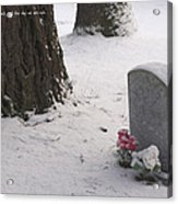 Cemetery In Winter Acrylic Print