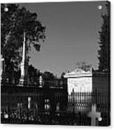 Cemetery- Natchez Mississippi Acrylic Print